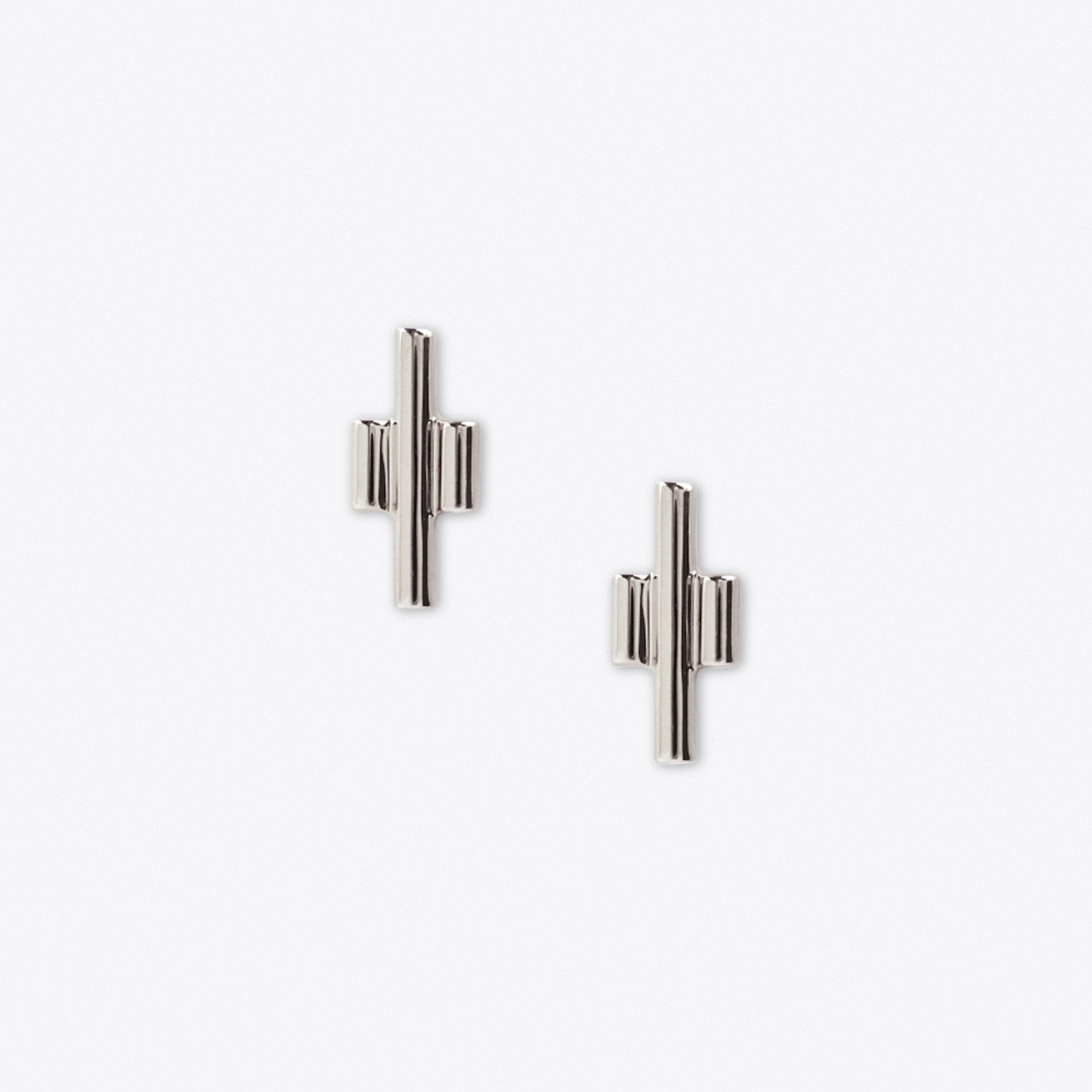 Tri Studs in Silver