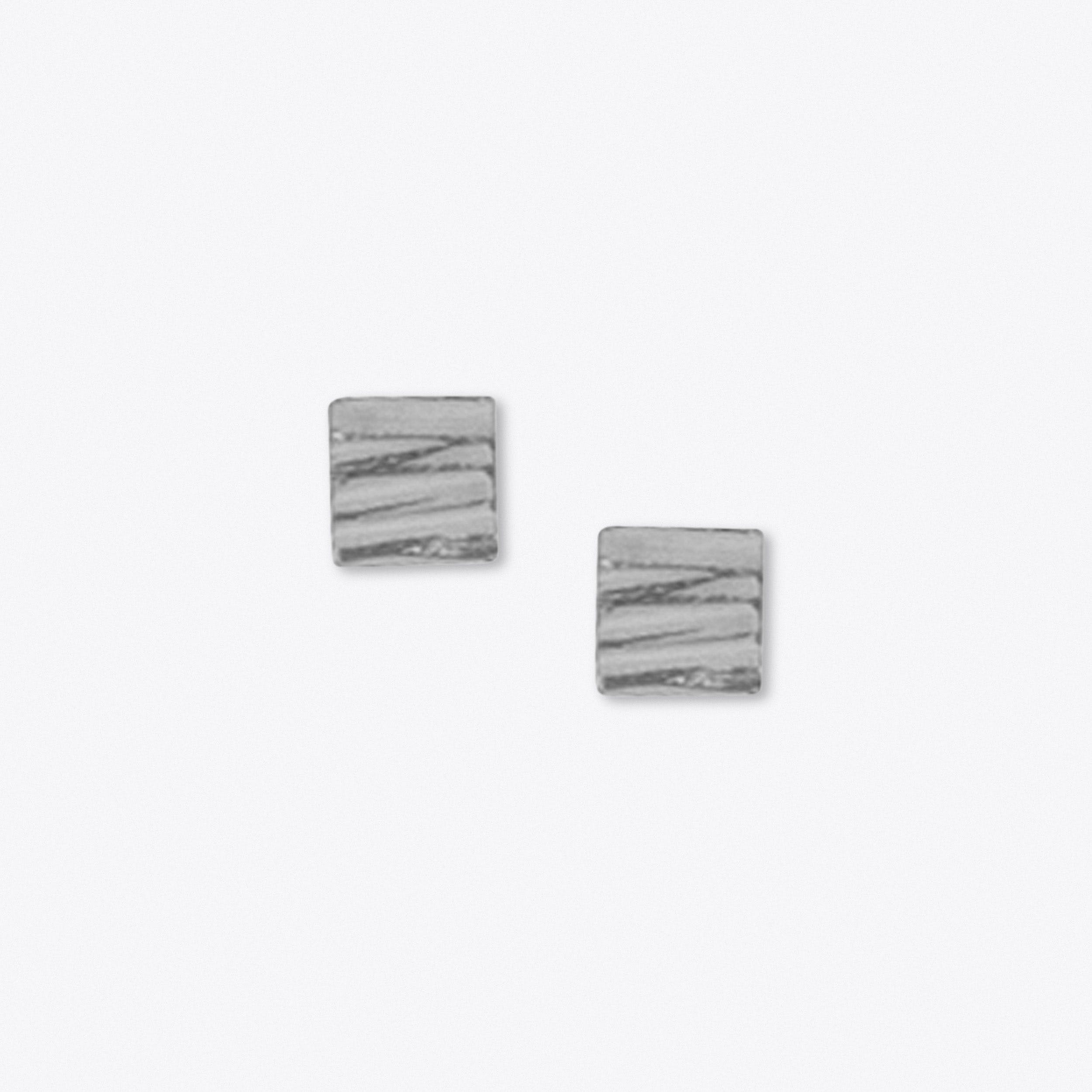 Allied Square Stud in Silver