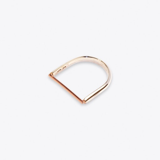 Machinist Ring in Rose Gold