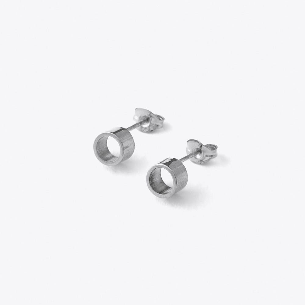 Tube Studs in Silver