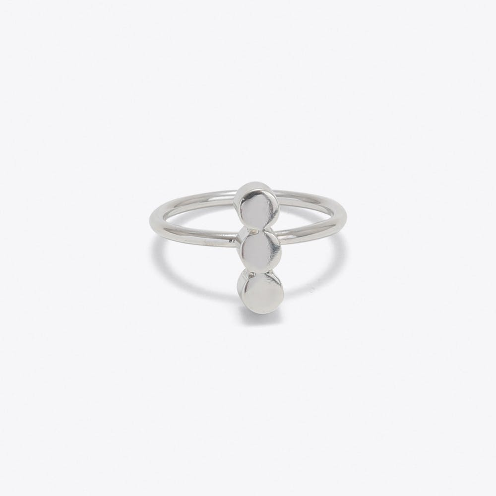 Triple Dot Ring in Silver