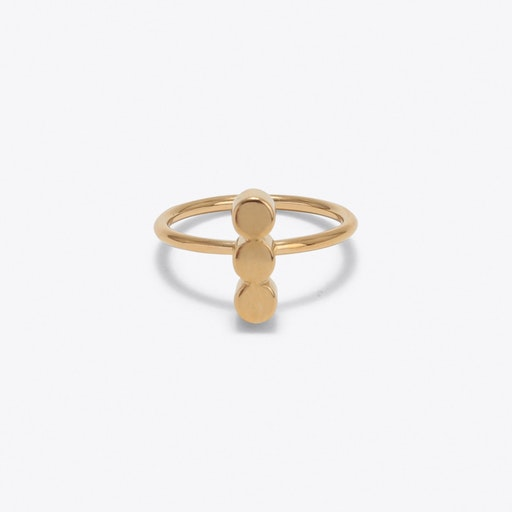 Triple Dot Ring in Gold