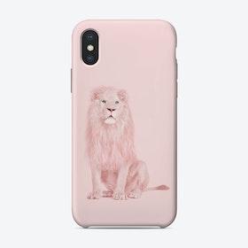 Albino Lion iPhone Case