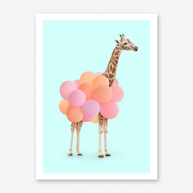 Party Giraffe Art Print