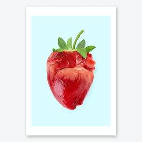 Strawberry Heart Print