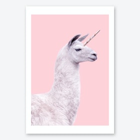 Unicorn Lama Art Print