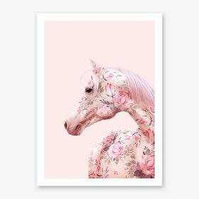 Floral Horse Art Print