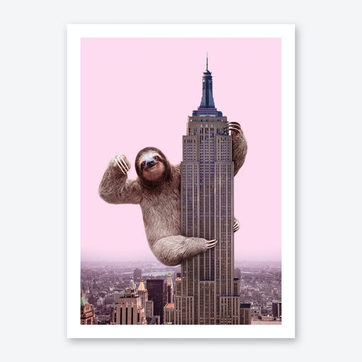 King Sloth Art Print