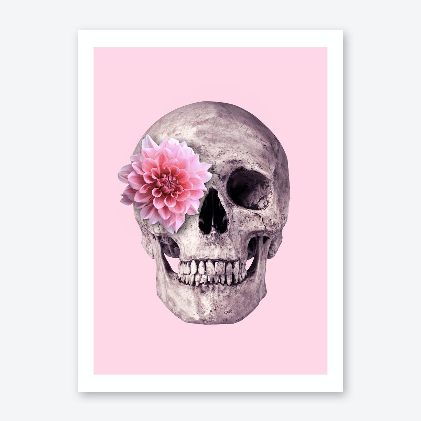 Fower Skull Print