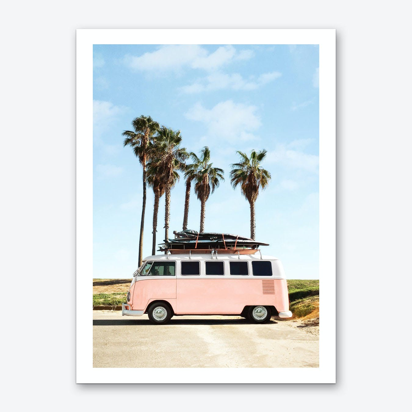 Venice Beach Bus Art Print
