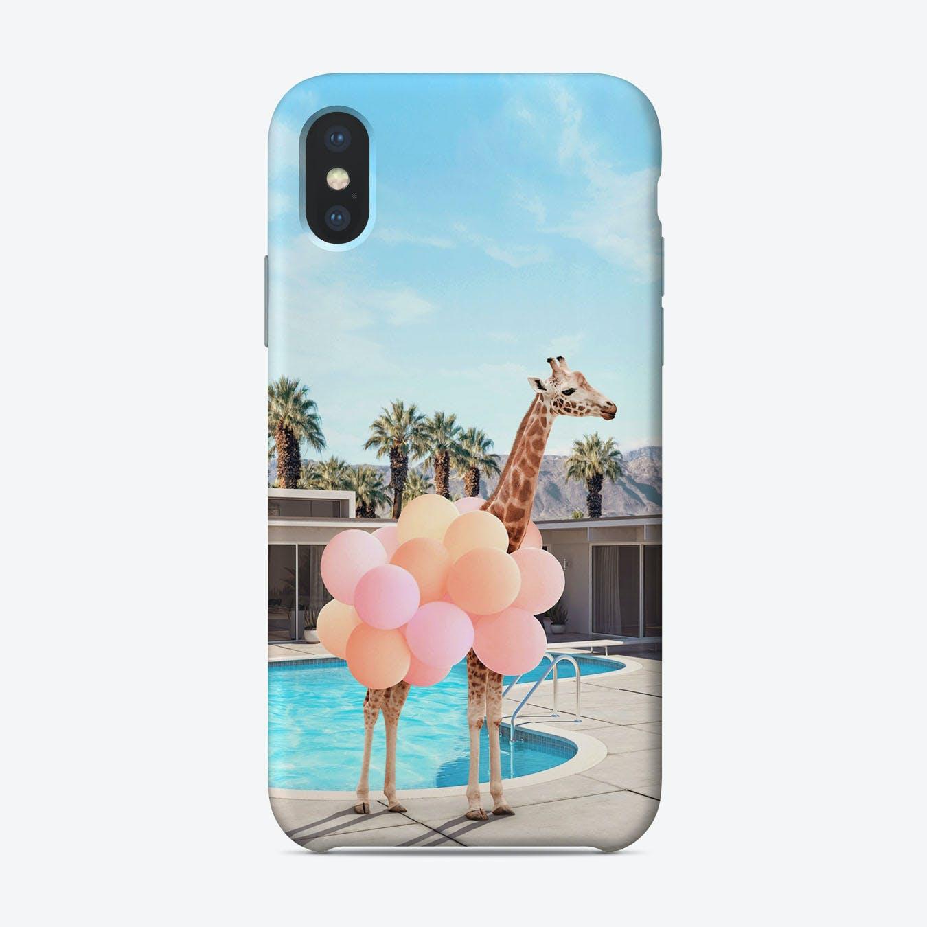 Giraffe Palm Springs iPhone Case