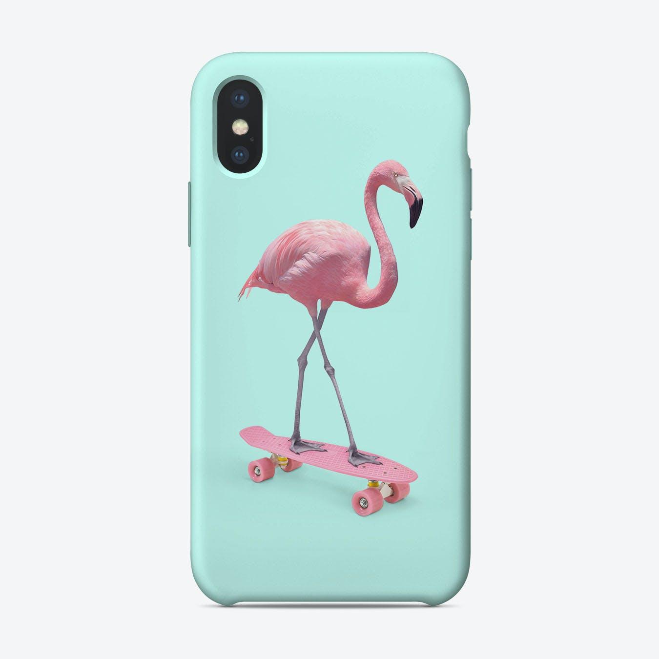 Skate Flamingo iPhone Case