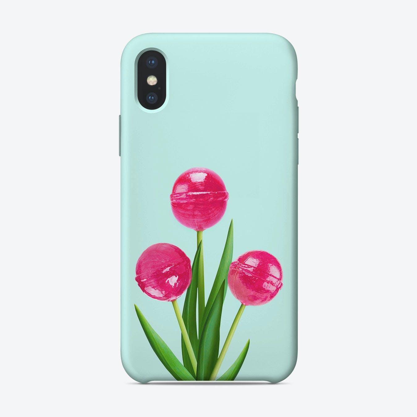Lollipop Tulips iPhone Case