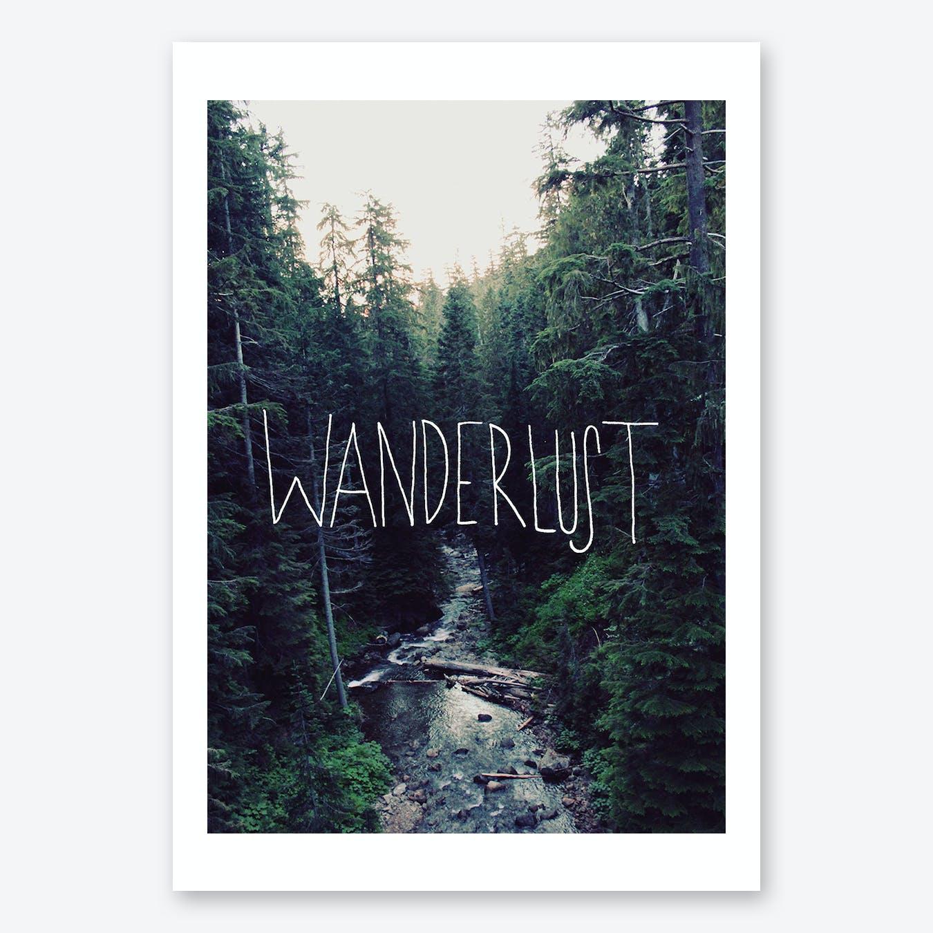 Wanderlust Rainier Creek Print