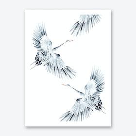 Cranes 1 Art Print