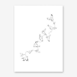 Black Connected in Flight Art Print