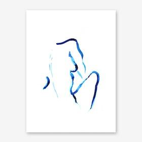 Blue Woman III Art Print