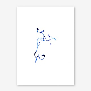 Blue Woman IV Art Print