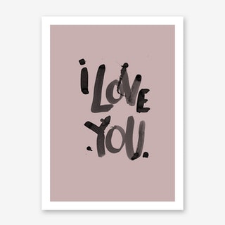 I Love You Blush Art Print