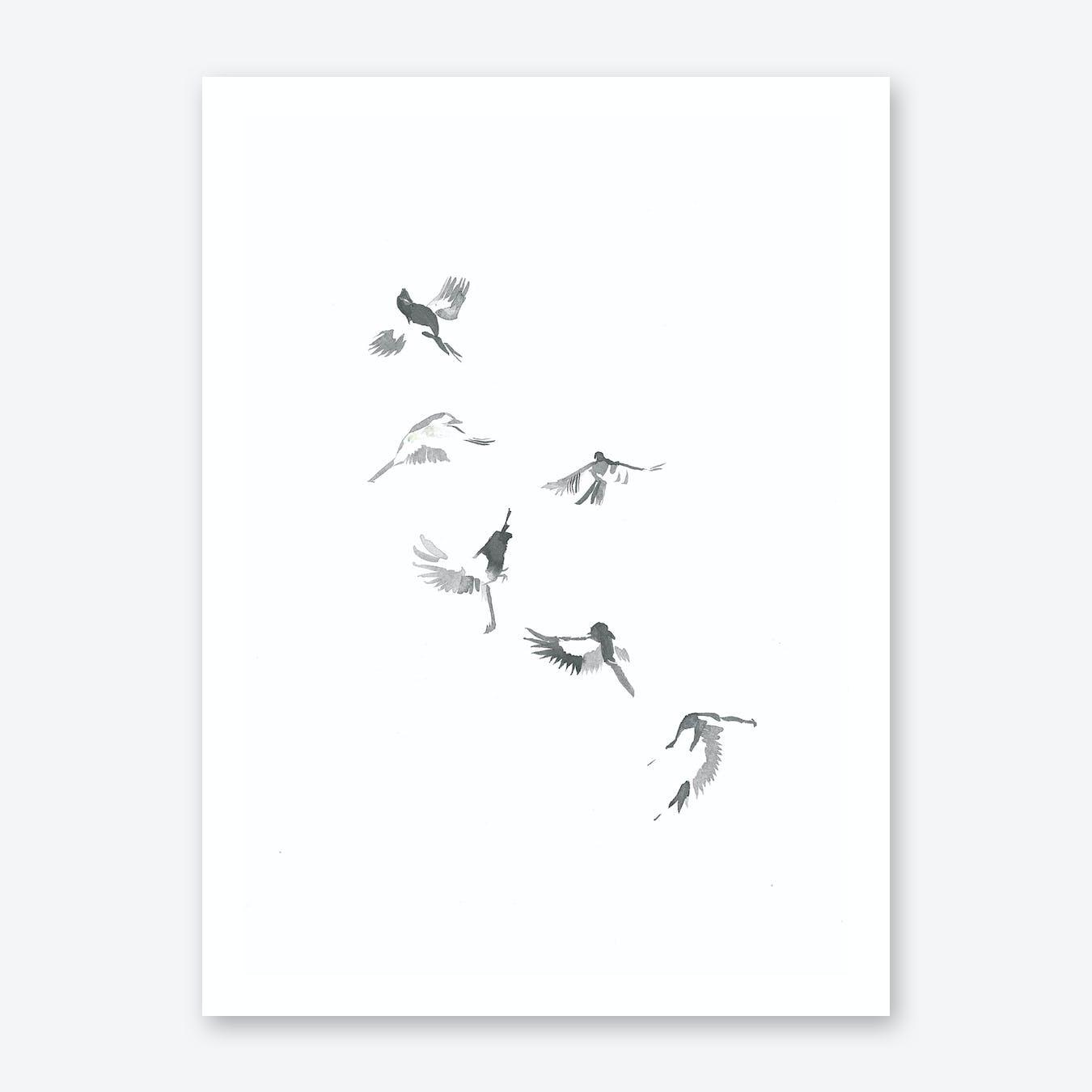 Flight Of Six Print