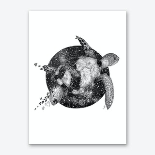 Cosmic Sea Turtle Art Print