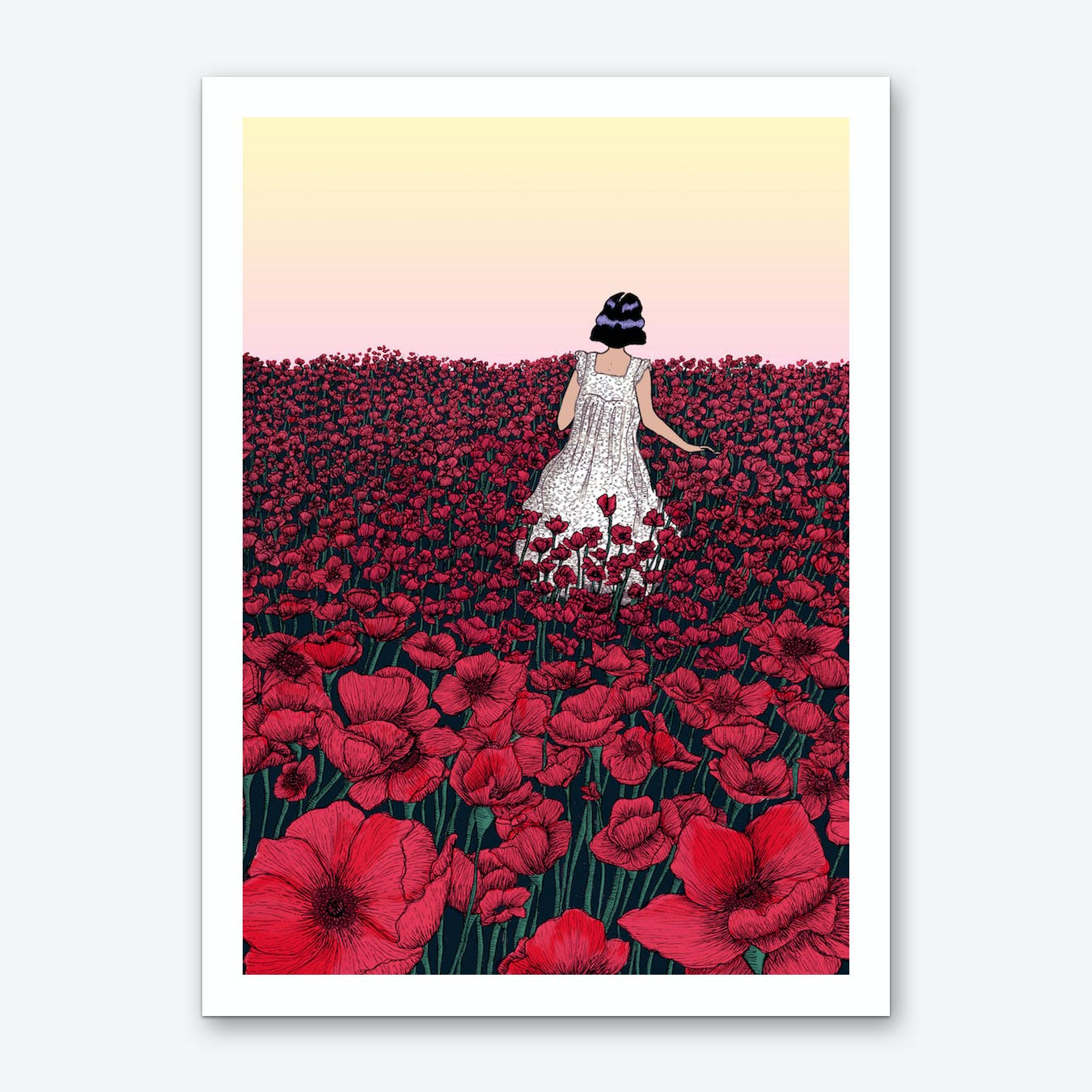 Field of Poppies II Art Print