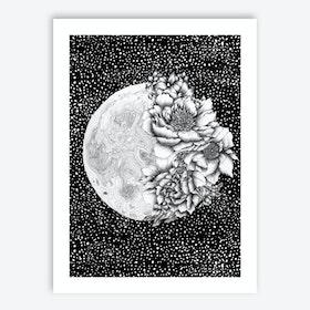 Moon Abloom Art Print