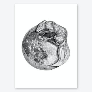 Moon Fox Art Print