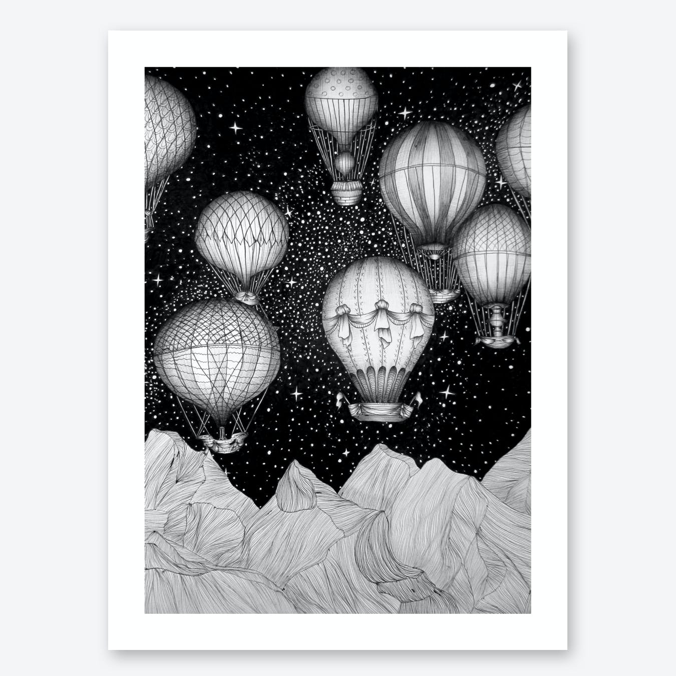 Night Flight Print