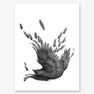 Raven Unravelled Art Print