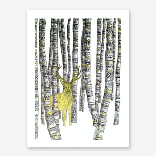 The Golden Stag Print
