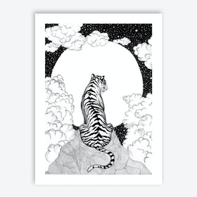 Tiger Moon Art Print