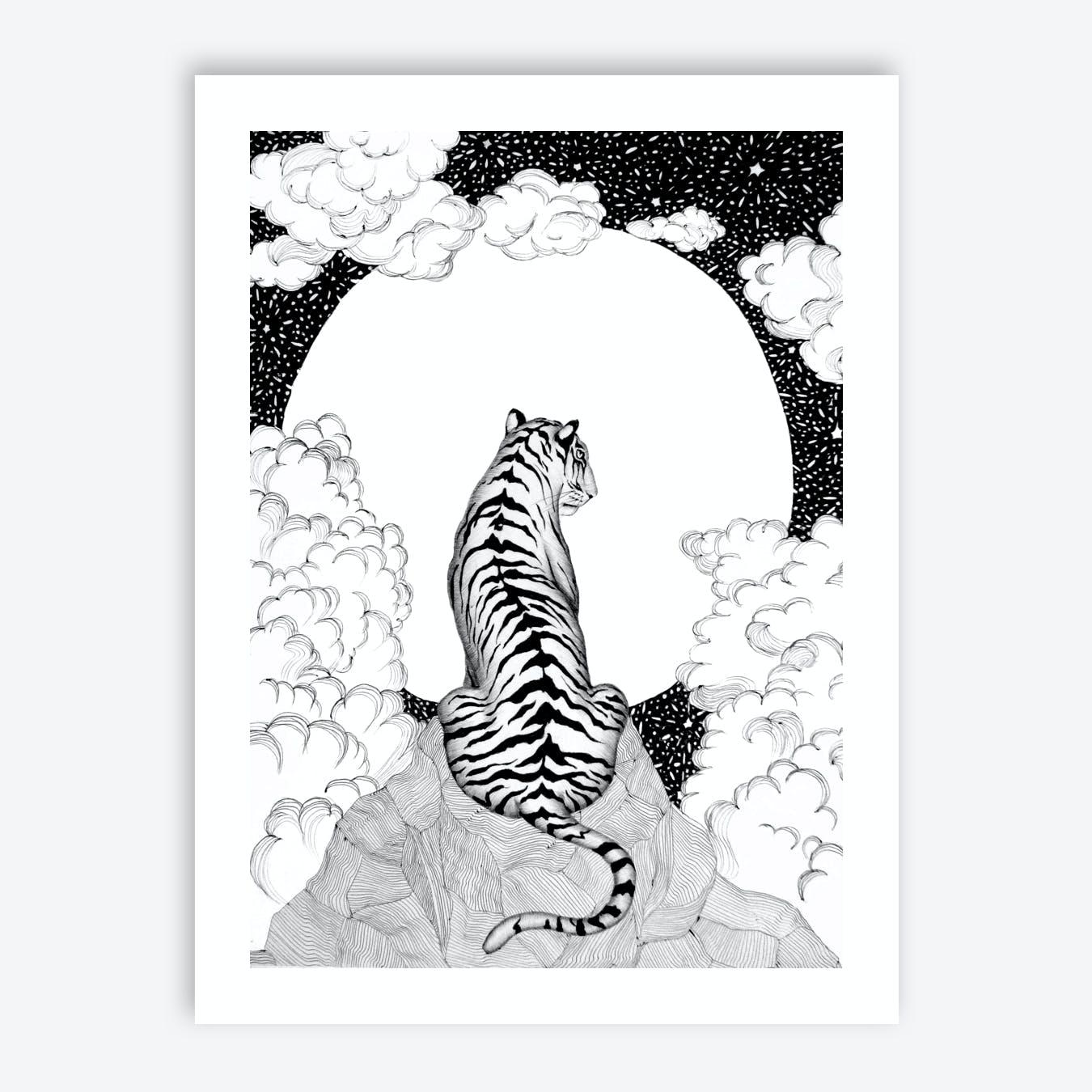 Tiger Moon Print