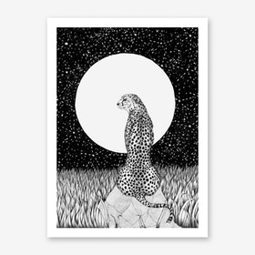 Cheetah Moon Art Print