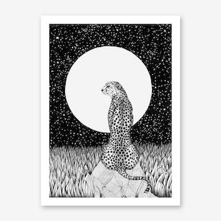 Cheetah Moon Art Print