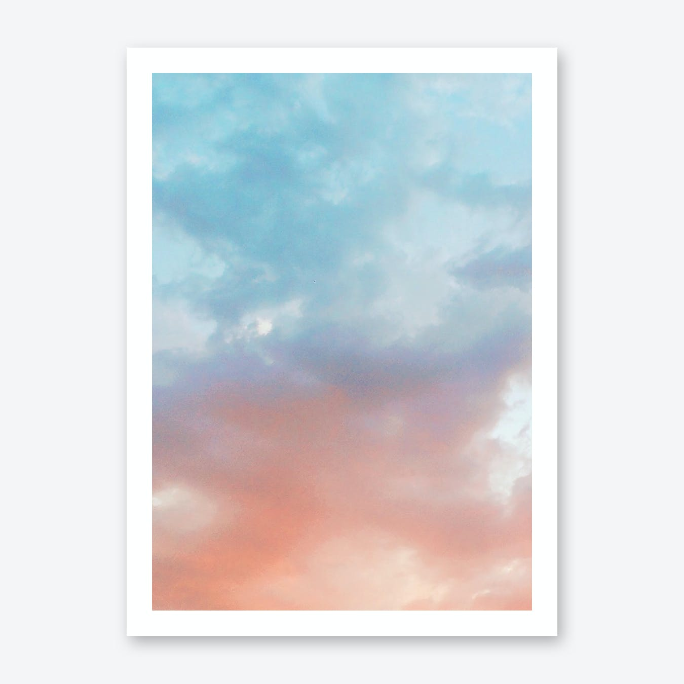 Cotton Candy Clouds Print