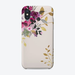 Monis Flower And Gold Blush Phone Case