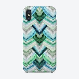 Monis Flawless Peacock Emerald Blue Phone Case