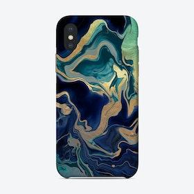 Monis Dramaqueen Gold Indigo Phone Case