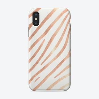 Monis Rosegold Zebra Phone Case