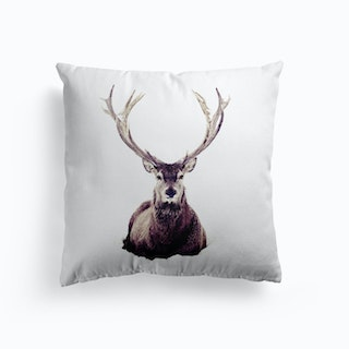 Stag In Snow 3 Cushion