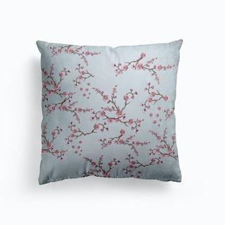 Sakura Love Blue Grey Cushion