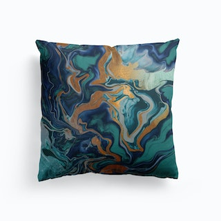 Dramaqueen Marble Green Cushion