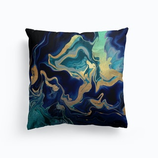Dramaqueen Indigo Gold Cushion