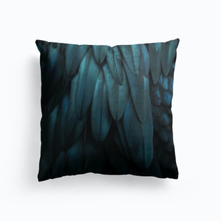 Feathers Dark Teal Cushion