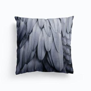 Feathers Steel Grey Cushion