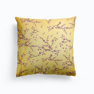 Sakura Yellow Cushion