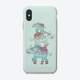 Monis Mint Elephants Phone Case