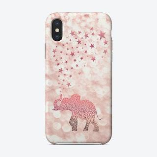 Monis Happy Elephant Blush Phone Case