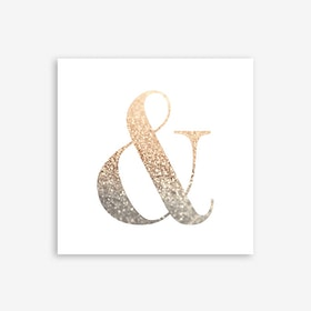 Ampersand Gold Art Print